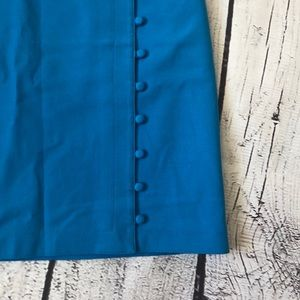 LOFT Skirts - Classy blue skirt with buttons